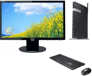 NOWY ALL IN ONE AIO Komputer ASUS EB1037 J1900 4GB 500GB Win 8/10 + ASUS VE228R 21,5'' +  Klawiatura, mysz, zasilacz