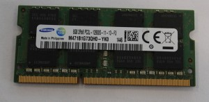 Pamięć RAM 8GB DDR3 - SAMSUNG PC12800 1600 MHz laptop